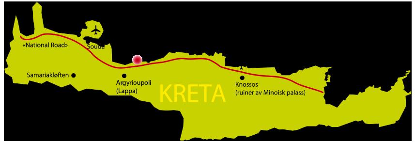 kart kreta vest Været på Kreta | Hus på Kreta kart kreta vest
